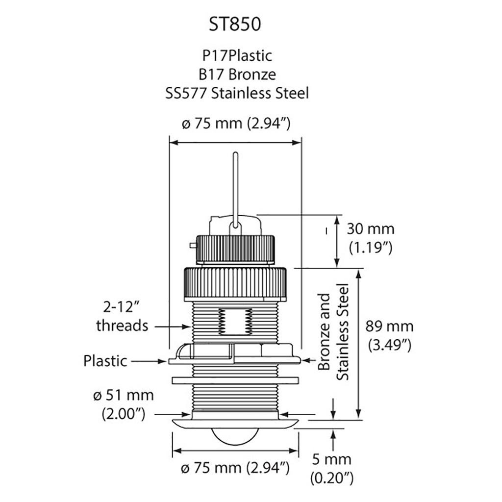 Gemeco St850 Nmea 2000 Transducer Profile Nema Wiring Diagram Specifications